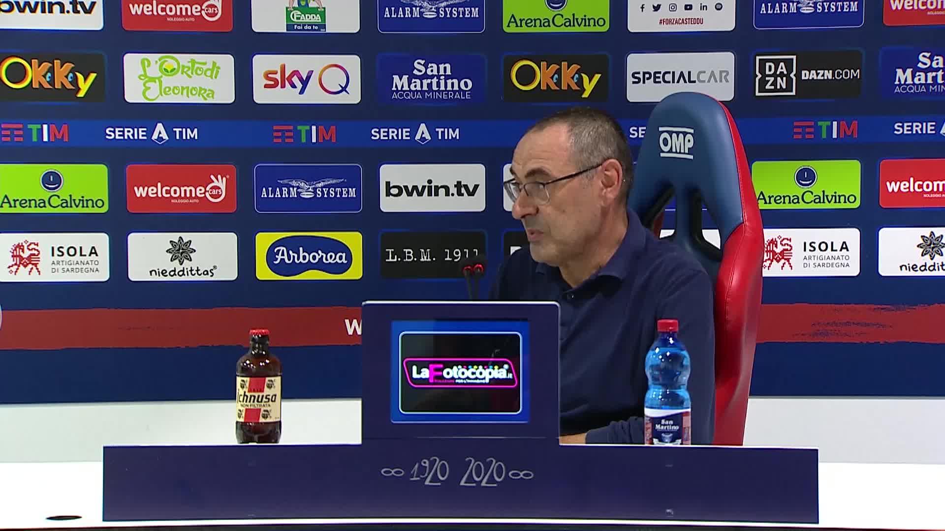 """Cagliari-Juve, Sarri: """"Forse con la Roma gioca l'Under 23"""" - newsby"""