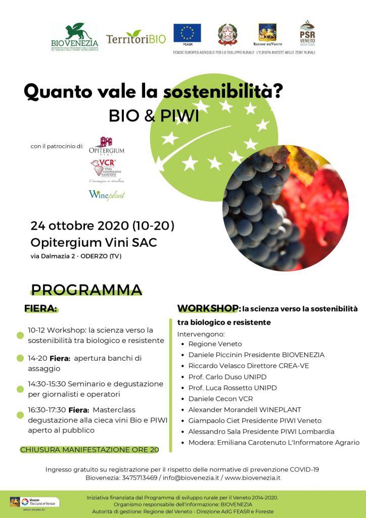 Vino, Programma WorkShopBio Venezia
