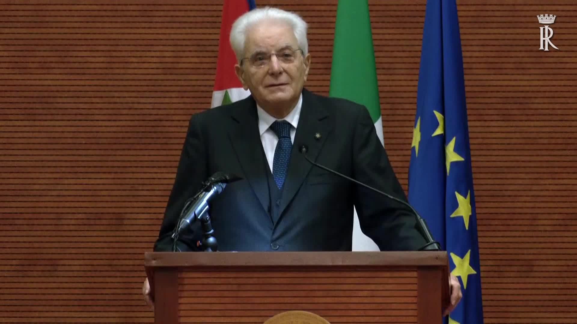 """Mattarella: """"Formare coscienze per contrastare criminalità"""""""