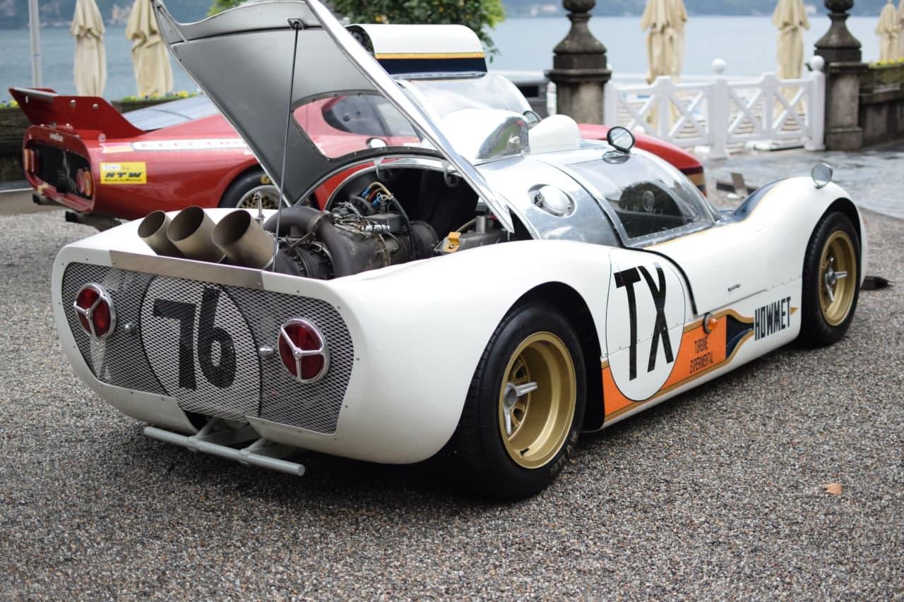 Howmet TX, l'auto a turbina col motore dell'elicottero al Concorso d'Eleganza di Villa d'Este